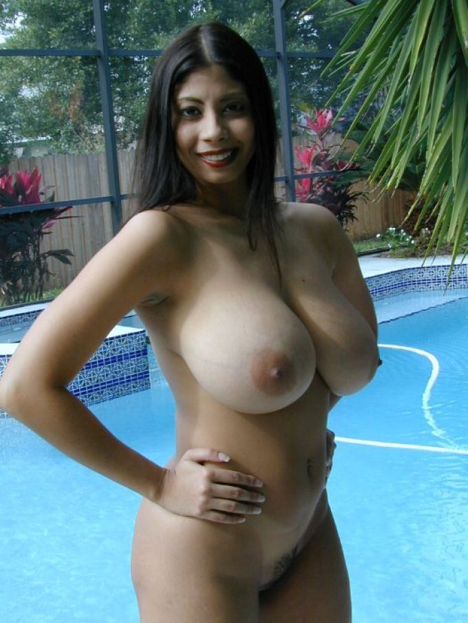 image Thick and busty latin woman teasing us