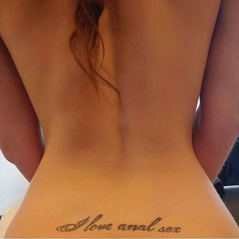Love anal sex tattoo