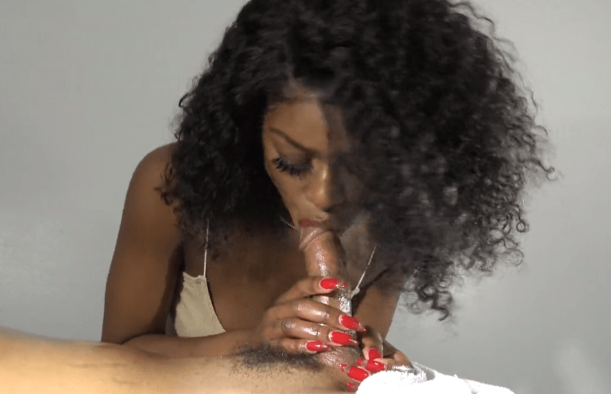 natte Ebony blowjob